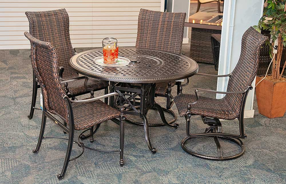 48 inch Bel Air Woven Patio Dining Set by Gensun