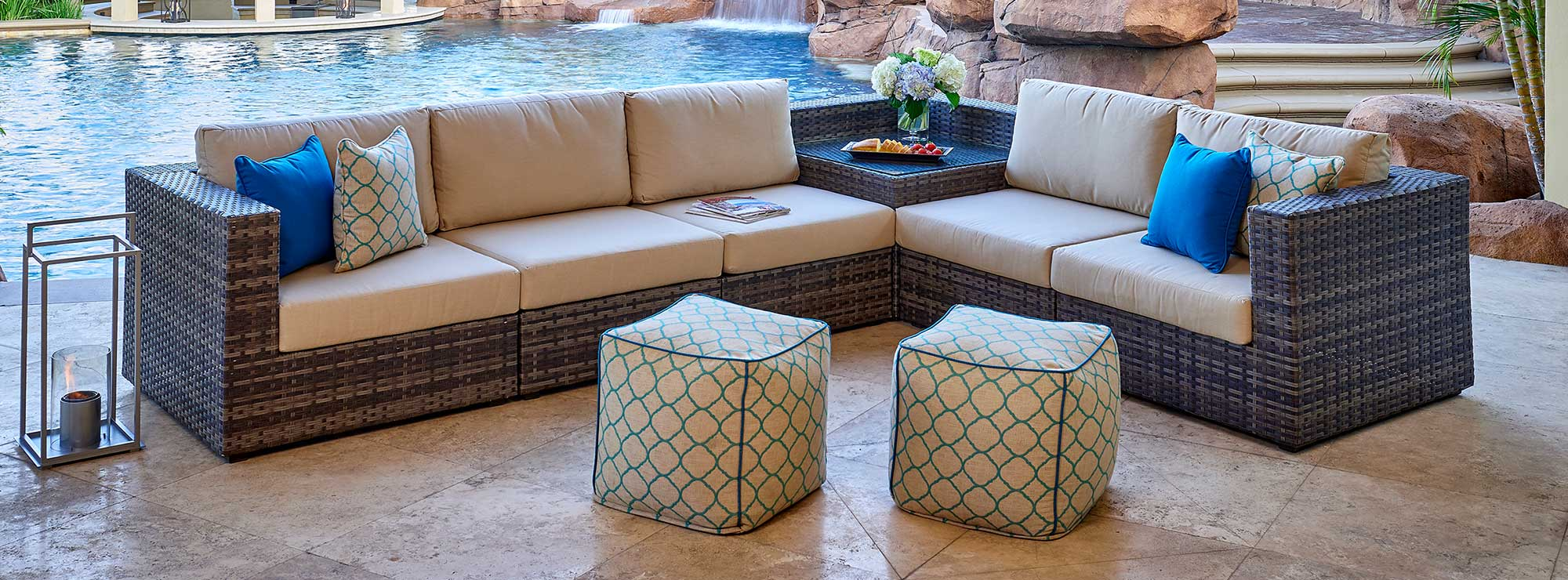 Regent Outdoor Woven Sectional Set by NCI