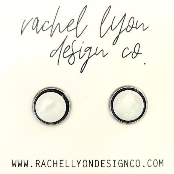 Cat Eye Stone Studs - 12mm