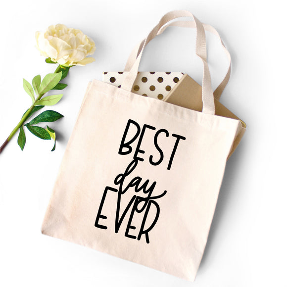 Best Day Ever Tote - Natural