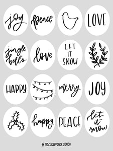Gift Wrap Sticker Sheet//MISC HOLIDAY