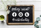 DIY Wedding Social Media Hashtag Decal for Sign or Chalkboard
