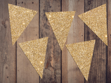 DIY Glitter Cardstock Triangle Bunting Banner Flags - Choose Colour