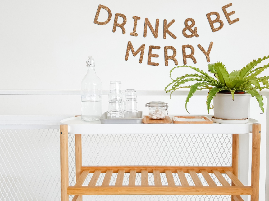 DIY Glitter Letter Banner Kit - DRINK & BE MERRY