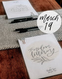 DIY Modern Lettering Workshop - Postponed to May 14