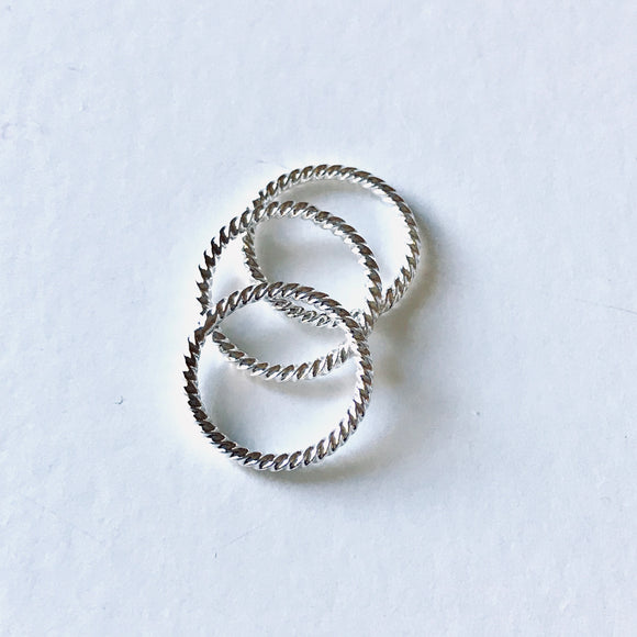 Mini Silver Stacking Ring
