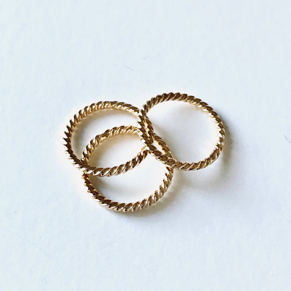 Mini Gold Stacking Ring