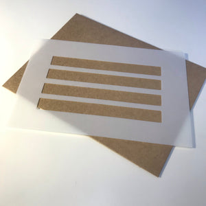 Envelope Template Stencil