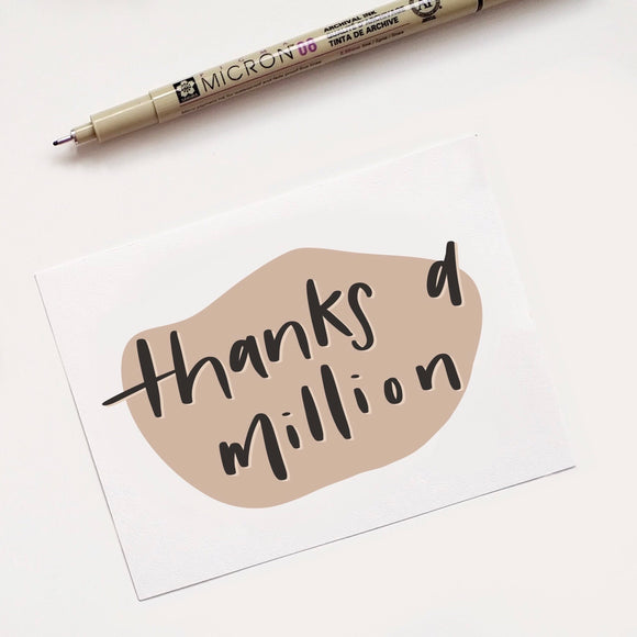 "Love Notes - ""Thanks a million"""