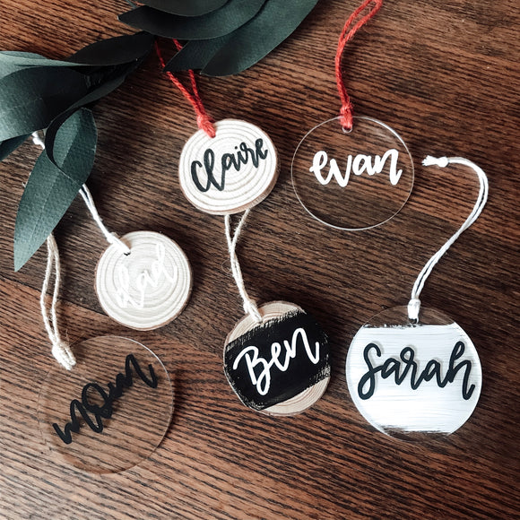 Custom Ornament or Gift Tag