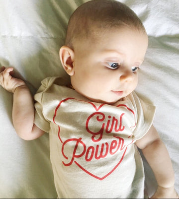 ORGANIC GIRL POWER ONESIE