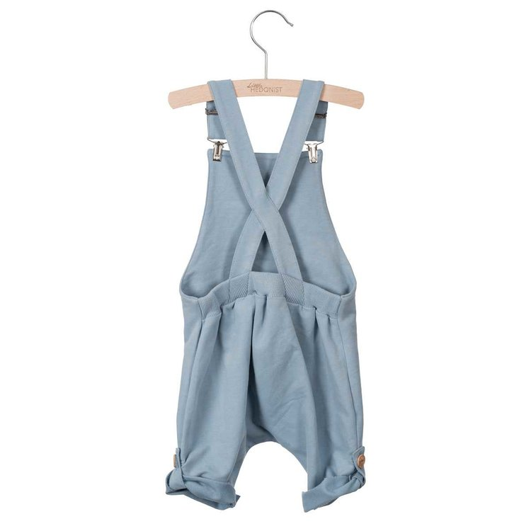ORGANIC SHORT LEGGED SALOPETTE - LIGHT BLUE
