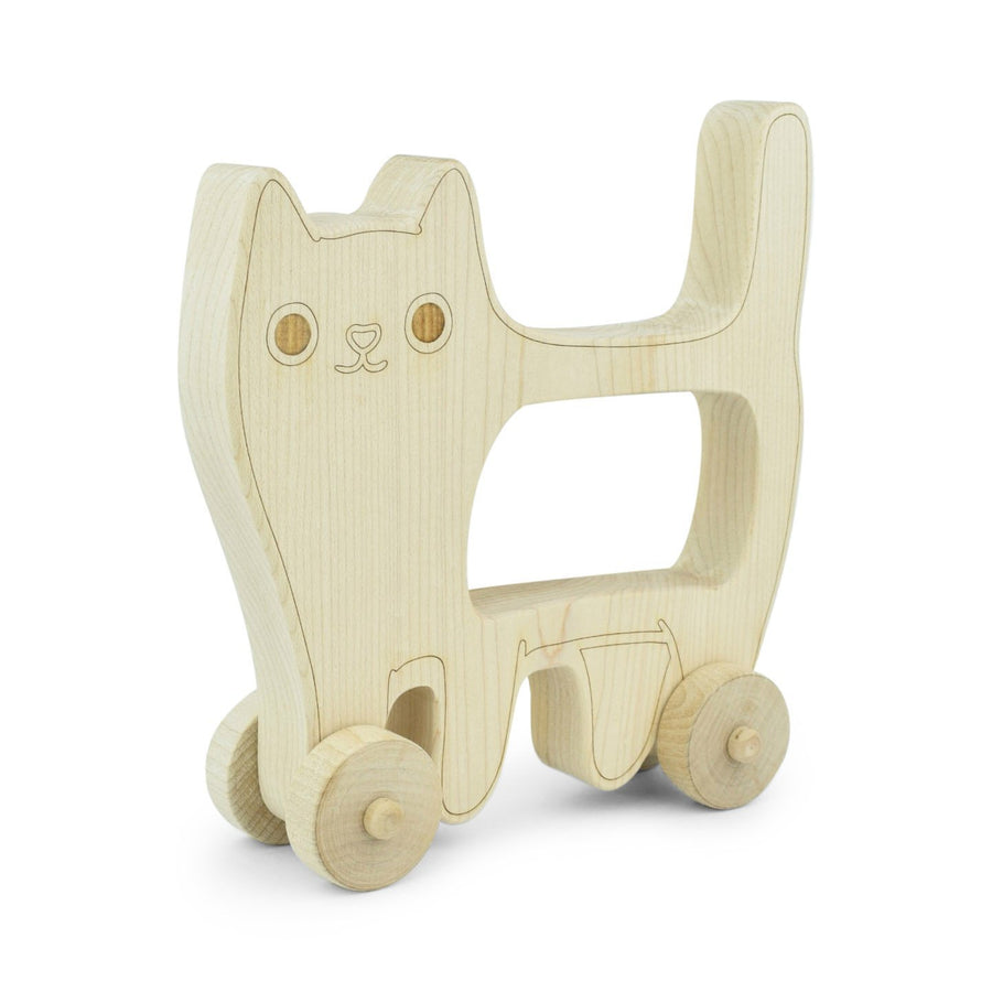 WOODEN PUSH CAT