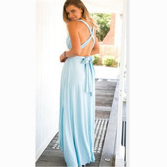 a0a778bfe7f ... Dress Women 2018 Long Summer Convertible Bohemian Dresses Casual  Bandage Evening Prom Club Party Infinity Multiway ...