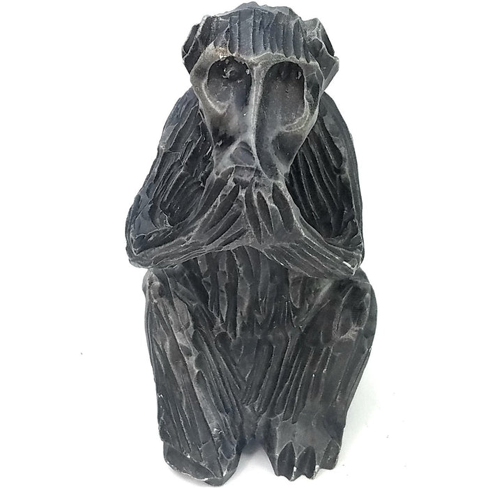 African Monkey Hand Carved In Zimbabwe
