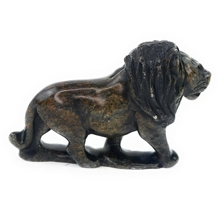 African Lion Hand Carved In Zimbabwe