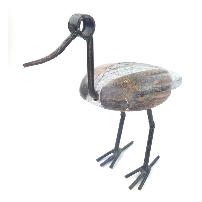 Recycled Metal and Stone Duck