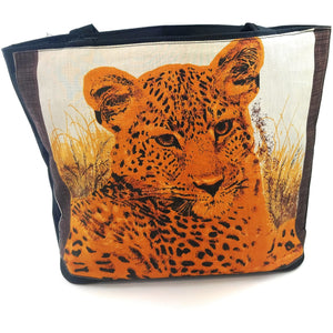 Cheetah Giraffe Tote Bag