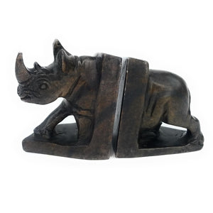 African Rhino Bookends