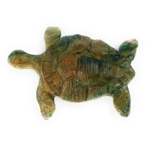 Hand Carved Stone Sea Turtle Sculpture - Assorted