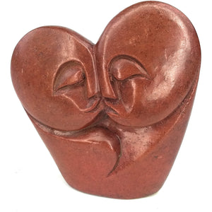 Red Stone Kissing Couple