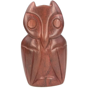 Red Stone Abstract Owl