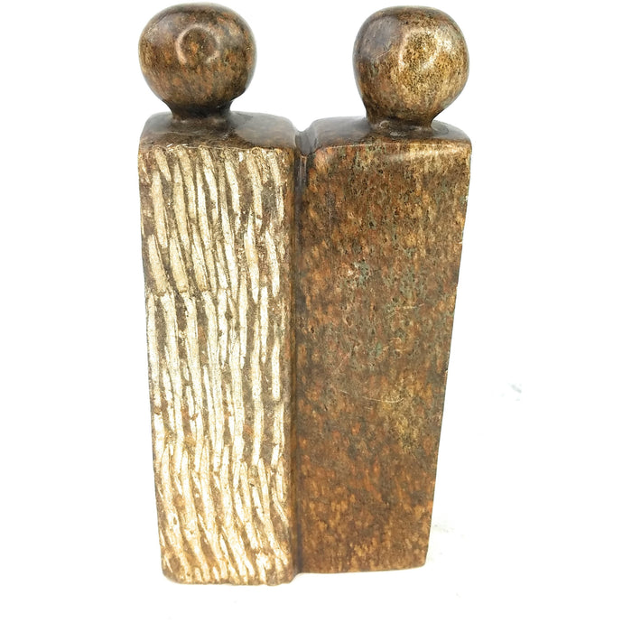 Abstract Couple Hand Carved In Zimbabwe