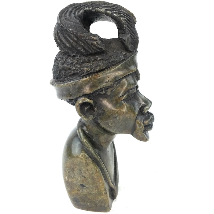 Shona Chief Bust Handmade In Zimbabwe