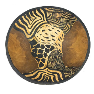 Wooden Animal Print Bowl