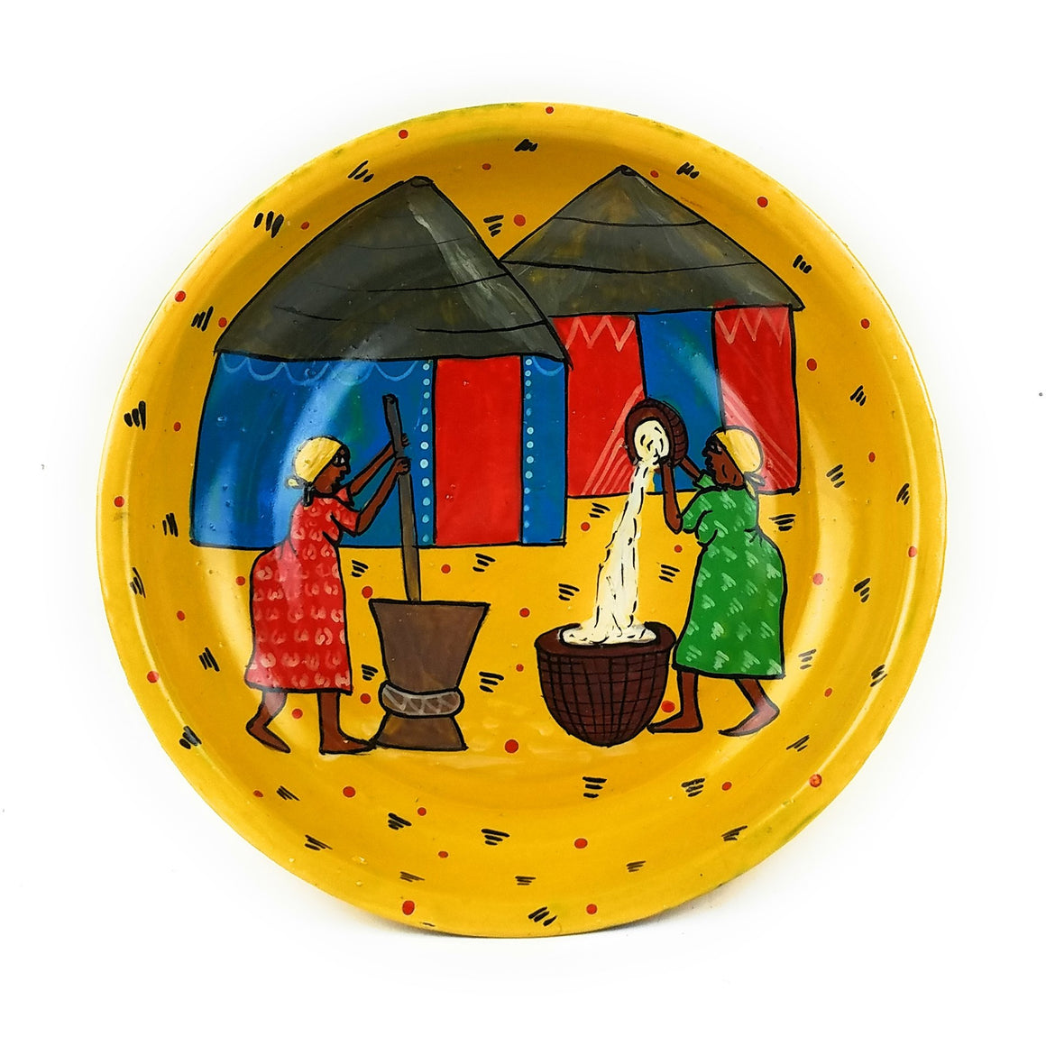 Painted Plate  - Village Setting