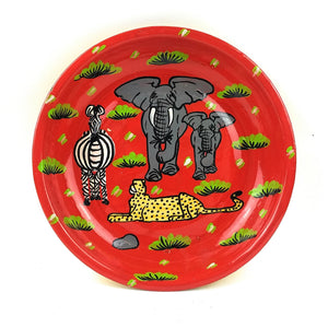 Painted Plate  - Safari Animals