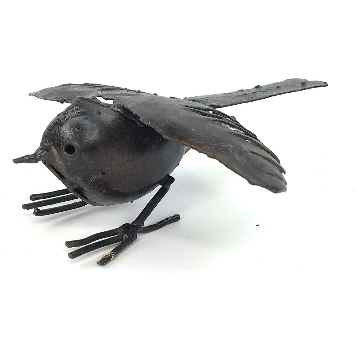 Recycled Metal Bird - S