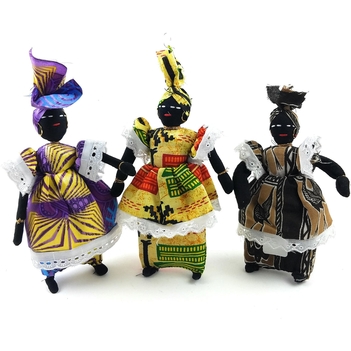 African Woman Doll Handmade in Senegal