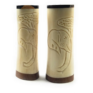 Scrimshaw Salt and Pepper Shakers - L