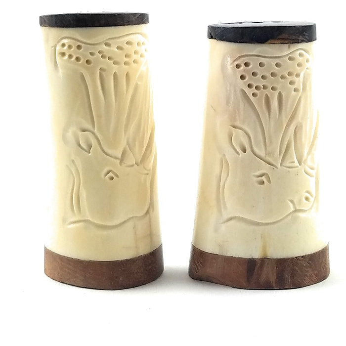 Scrimshaw Salt and Pepper Shakers - M