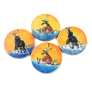 Coaster Set Safari Animals - 4 Piece Set