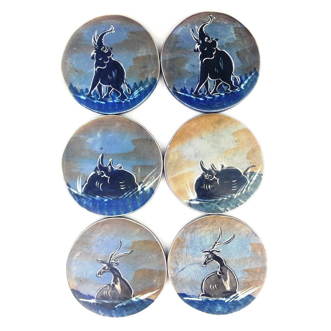 Coaster Set Safari Animals - 6 Piece Set