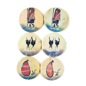 Coaster Set Massai - 6 Piece Set