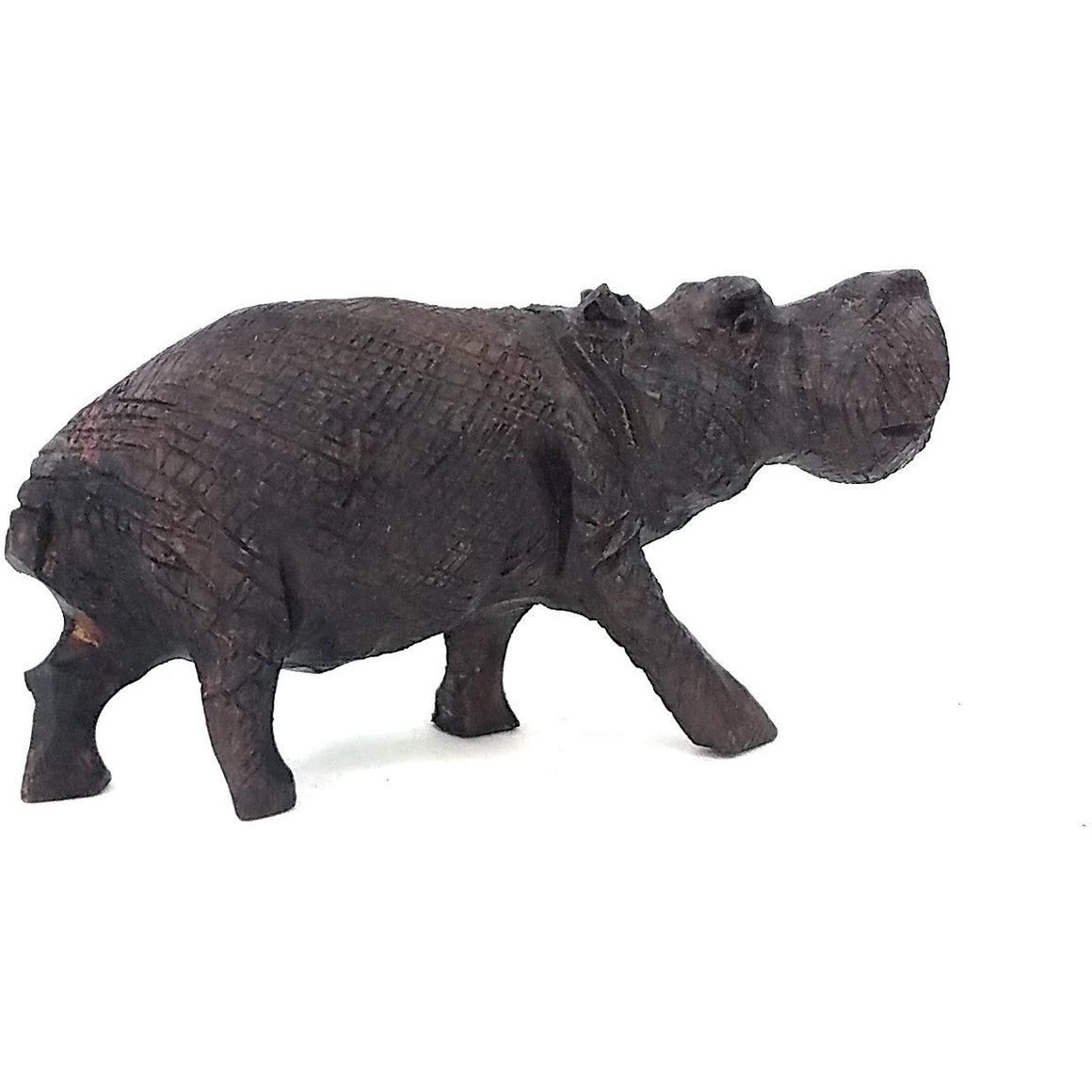 Ironwood Hippo Hand Carved In Zimbabwe