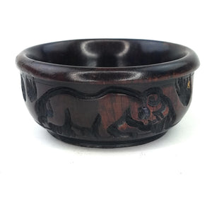 Safari Animal Ebony Wood Bowl
