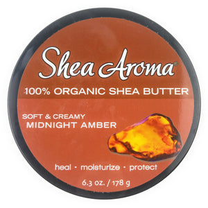 100% Unrefined Shea Butter - Midnight Amber