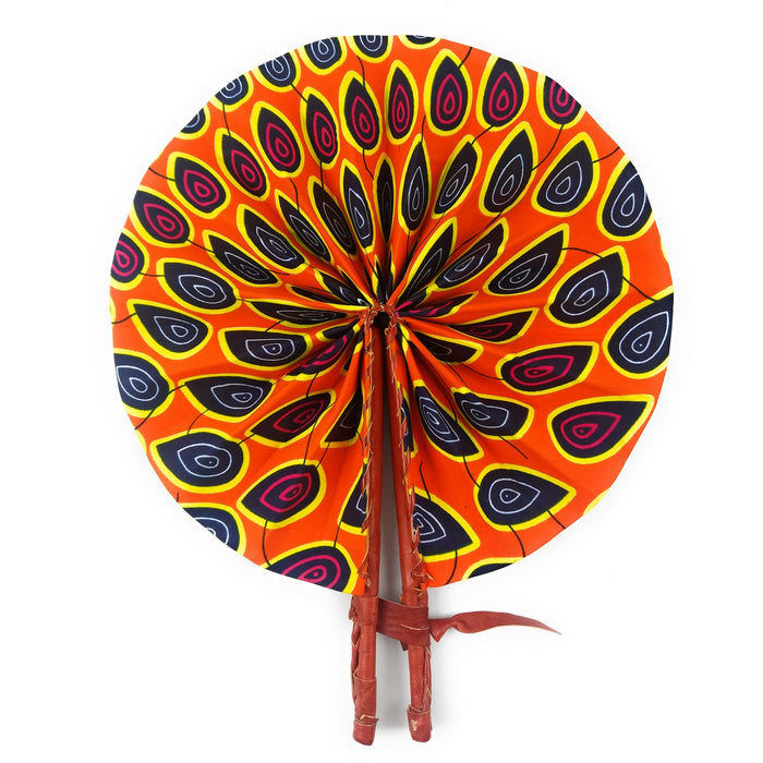 African Fan  - Orange Peacock