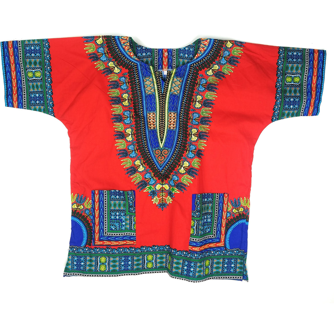 Unisex Red Pattern  Dashiki