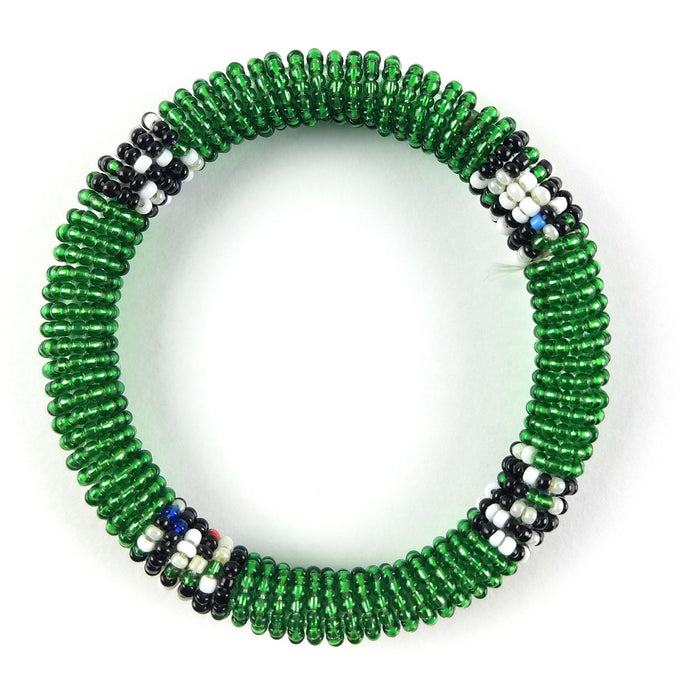 Massai Bead Bracelet - Green