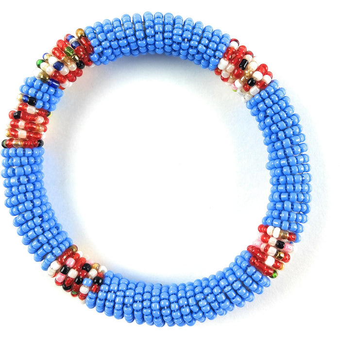 Massai Bead Bracelet - Blue