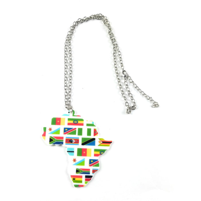 Africa Map Flag Pendant
