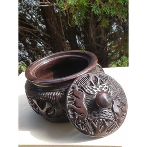 Big Five Wooden Bowl with Lid