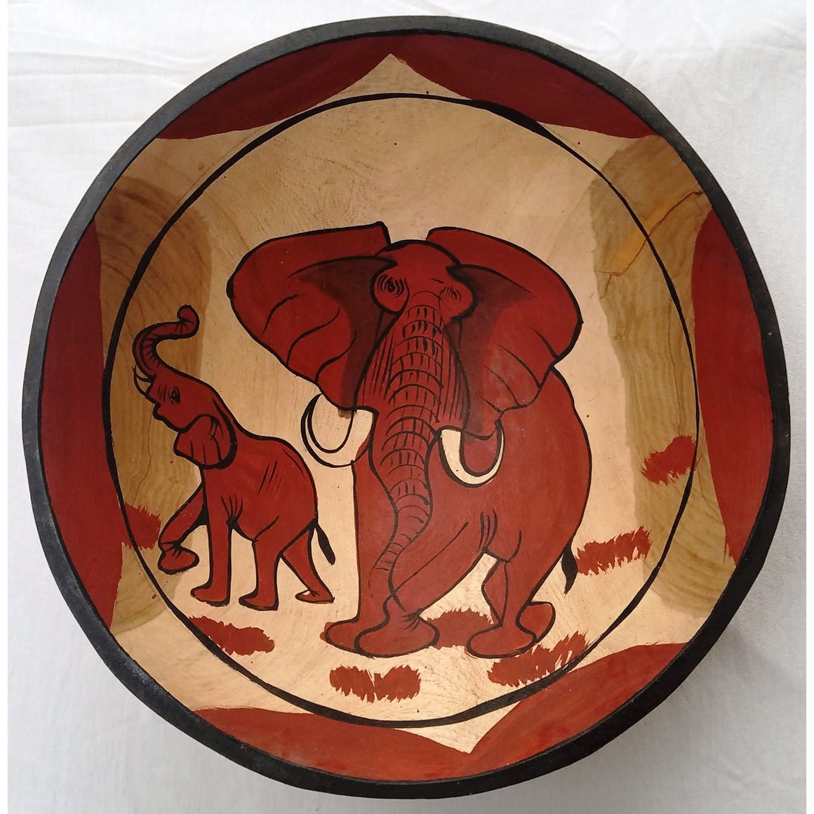 Wooden Elephant Bowl