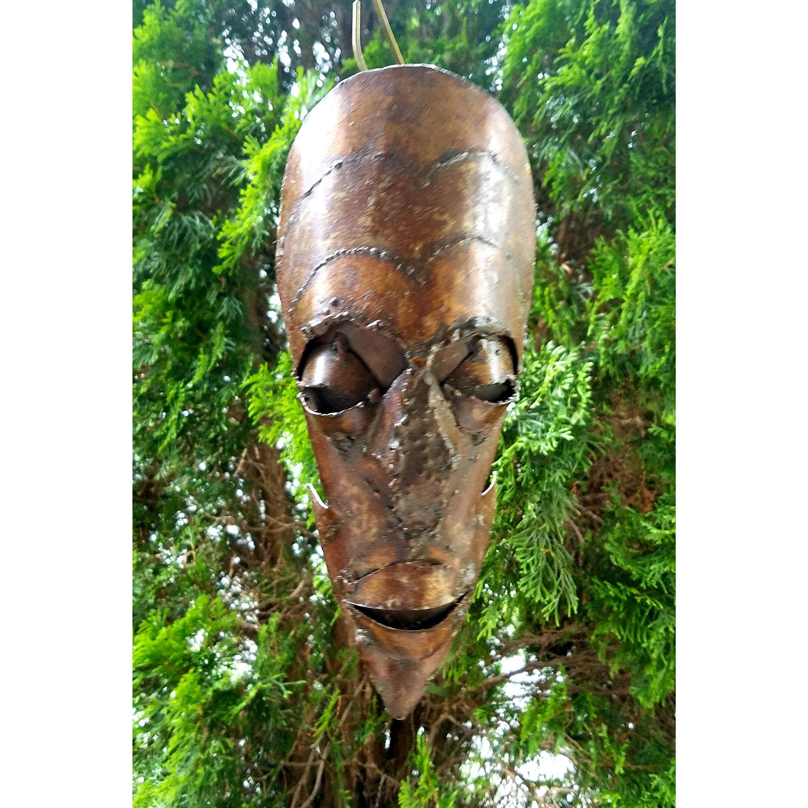 Recycled Metal Warrior Mask