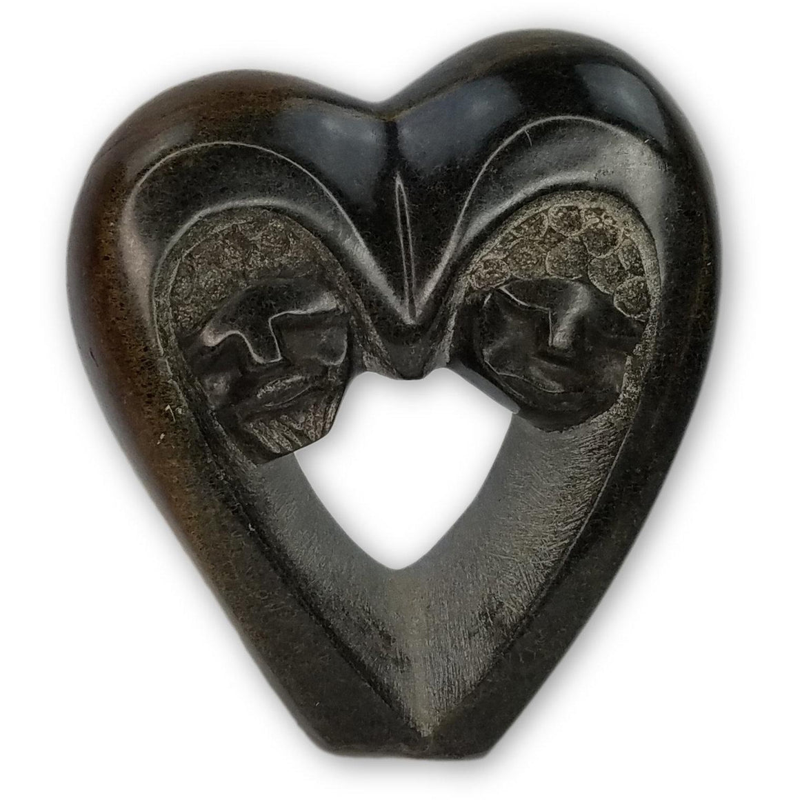 Heart Couple Hand Carved In Zimbabwe